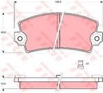 Комплект тормозных колодок, дисковый тормоз Trw GDB149