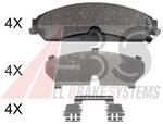 Комплект тормозных колодок, дисковый тормоз A.b.s. 37949