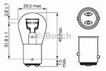 Лампа накаливания, фонарь сигнала тормож./ задний габ. огонь Bosch 1987302282