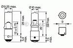 Лампа накаливания, задний гарабитный огонь Bosch 1987302232
