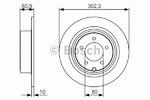 Тормозной диск Bosch 0986479R07