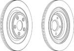 Тормозной диск (задний мост) Ferodo DDF1703
