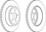 Тормозной диск (задний мост) Ferodo FE DDF1766