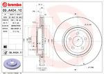 Тормозной диск Brembo 09.A404.11