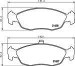 Комплект тормозных колодок, дисковый тормоз Mintex MDB1808