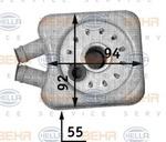Масляный радиатор, двигательное масло Behr Hella Service 8MO376726-221