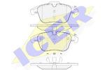 Комплект тормозных колодок, дисковый тормоз Icer 181885