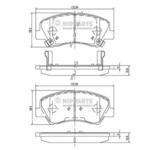 Комплект тормозных колодок, дисковый тормоз Nipparts N3600550