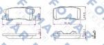 Комплект тормозных колодок, дисковый тормоз Fomar FO 931681