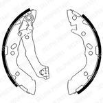 Комплект тормозных колодок Delphi LS1891