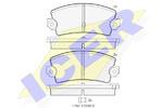 Комплект тормозных колодок, дисковый тормоз Icer 180098