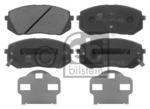 Комплект тормозных колодок, дисковый тормоз (передний мост) Febi Bilstein 16816