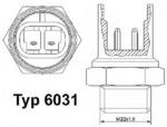 Термовыключатель, вентилятор радиатора Wahler 6031.92D