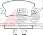 Комплект тормозных колодок, дисковый тормоз A.b.s. 36122