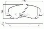 Комплект тормозных колодок, дисковый тормоз Bosch 0986495253