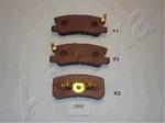 Комплект тормозных колодок, дисковый тормоз (задний мост) Ashika 51-05-505