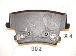 Комплект тормозных колодок, дисковый тормоз (задний мост) Ashika 5109902