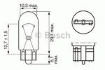 Лампа накаливания, фонарь освещения номерного знака Bosch 1987302206