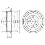 Тормозной барабан Delphi BF413