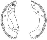 Комплект тормозных колодок Remsa 424800