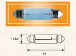 Лампа накаливания, фонарь освещения номерного знака Magneti Marelli 009461200000
