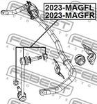 Тяга / стойка, стабилизатор Febest 2023MAGFL