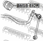 Опора, стабилизатор Febest BMSBE82R