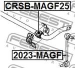 Опора, стабилизатор Febest CRSBMAGF25