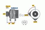 Генератор Bosch 0986038370