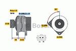 Генератор Bosch 0986038390