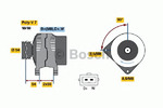 Генератор Bosch 0986039440