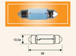 Лампа накаливания, фонарь освещения номерного знака Magneti Marelli 009418100000