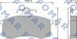 Комплект тормозных колодок, дисковый тормоз Fomar FO474381