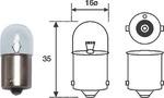 Лампа накаливания, задний гарабитный огонь Magneti Marelli 004008100000