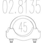 Соединительные элементы, система выпуска Mts MTS 02.8135