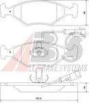 Комплект тормозных колодок, дисковый тормоз A.b.s. 37121