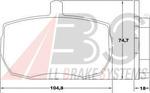 Комплект тормозных колодок, дисковый тормоз A.b.s. 36124