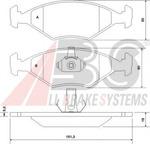 Комплект тормозных колодок, дисковый тормоз A.b.s. 37170