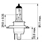 Лампа накаливания, фара дальнего света Philips 13342MDB1