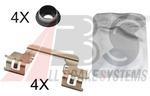 Комплектующие, колодки дискового тормоза A.b.s. 1784Q