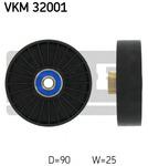 Паразитный / ведущий ролик, поликлиновой ремень Skf VKM 32001