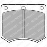 Комплект тормозных колодок, дисковый тормоз Delphi LP154