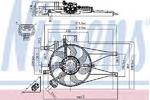 Вентилятор, охлаждение двигателя Nissens 85435