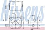 Масляный радиатор, двигательное масло Nissens 90652