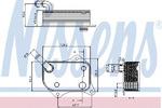Масляный радиатор, двигательное масло Nissens NIS 90711