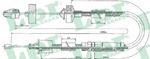 Трос, управление сцеплением Lpr C0201C