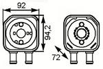Масляный радиатор, двигательное масло Nrf 31179