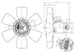 Вентилятор, охлаждение двигателя Nrf 47429