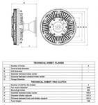 Сцепление, вентилятор радиатора Nrf 49122