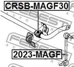 Опора, стабилизатор Febest CRSBMAGF30